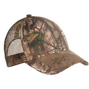 Port Authority (r) - Camouflage Cap, Mesh Back, Mid Profile With Hook And Loop Closure