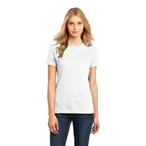 District Made (tm) -  X S- X L White - Ladies Short Sleeve Rib Knit Crew Neck T-shirt
