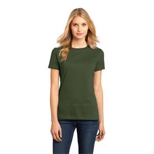 District Made (tm) -  X S- X L Heathers - Ladies Short Sleeve Rib Knit Crew Neck T-shirt