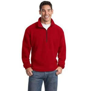 Port Authority (r) R-tek(r) -  X S -  X L All Colors - Polyester R-tek (r) Fleece 1/4 Zip Pullover Jacket, Twill Trimmed Neck