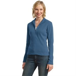 Port Authority (r) - 2 X L - Ladies' Flatback Rib Full Zip Jacket With Dyed To Match Zipper