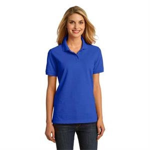 Port & Company (r) -  X S -  X L Colors - Ladies' 100% Ring Spun Pique Knit Cotton Polo Shirt With Soil Release Finish