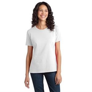 Port & Company (r) - 4 X L White - Ladies' Essential Ring Spun Cotton T-shirt