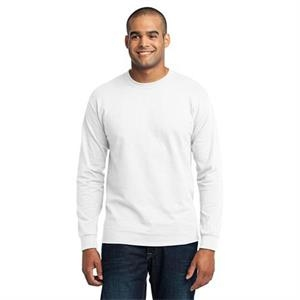 Port & Company (r) - Lt -  X Lt White - Adult Long Sleeve 50/50 Cotton/poly T-shirt, Tall Sizes