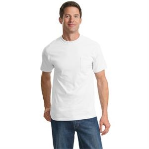 Port & Company (r) - Lt -  X Lt White - Adult 6.1 Oz. Cotton T-shirt With Shoulder To Shoulder Taping, Tall Sizes