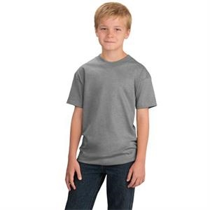 Port & Company (r) -  X S -  X L Lights - Youth Size 6.1 Oz. Cotton T-shirt With Double Needle Hem