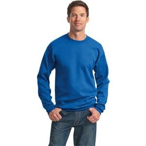 Port & Company (r) - Lt- X Lt - White - Polyester/cotton 9 Oz. Crew Neck Sweat Shirt With Set-in Sleeves, Tall Sizes