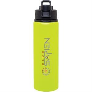 H2go (r) Surge - Neon Yellow - 28 Oz Single Wall Aluminum Water Bottle With Threaded Flip-top Lid