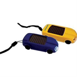 Solar Car Light Keychain