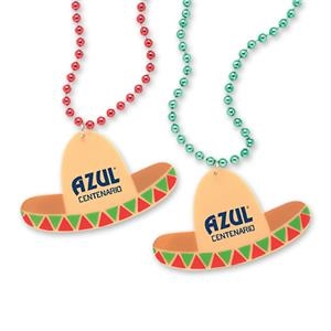 Sombrero Shaped Medallion Beads