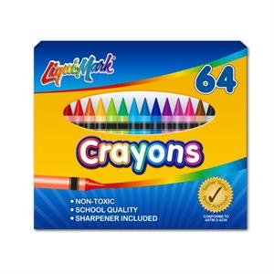 64 Pack Crayons with Sharpener