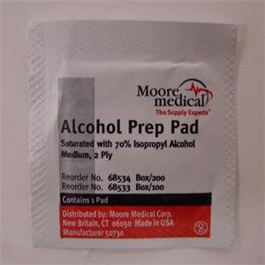 Alcohol Wipes. Blank
