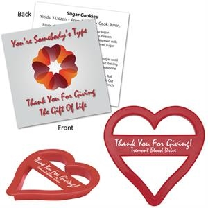 Heart Shape Cookie Cutter With Branded Recipe Card