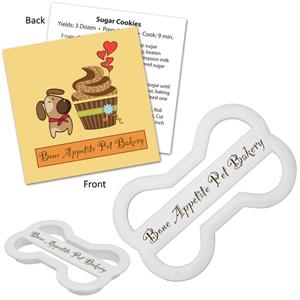 Dog Bone Shape Cookie Cutter With Branded Recipe Card