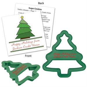 Tree Shape Cookie Cutter With Branded Recipe Card
