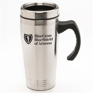 Max - 16 Oz Stainless Steel Travel Mug With Stainless Steel Inner And Outer Liner