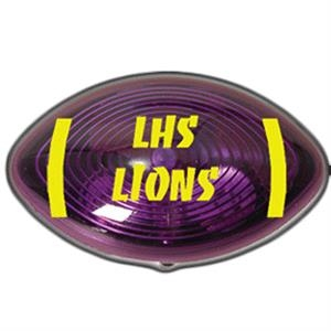 Light Up Reflector - Football - Purple - Red LED