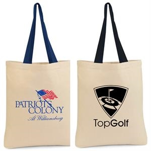 6 Oz. Cotton Tote Bag With Self-fabric Handles