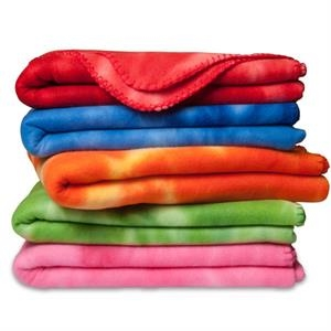 Crestwood - Polar Fleece Tie Dye Blanket. 100% Polyester 220gsm Brushed Polar Fleece