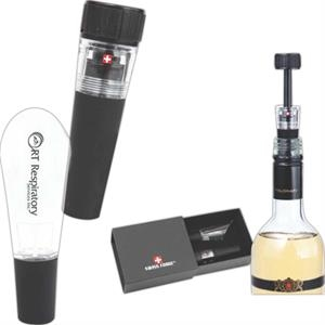 Aromatic;swiss Force (r) - Wine Mini Air Pump, Stopper, And Pourer