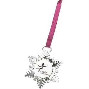 The Holiday Charm - Metallic Snowflake Ornament