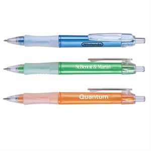 Ballpoint Pen With Pearl Finish Triangular Barrel And Soft Silicone Grip