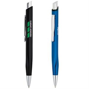 Triangle Shape Ballpoint Pen With Metal Clip