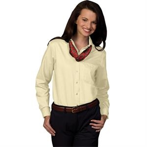 Colors  X  X S- X L - Women's Long Sleeve Dress Button Down Oxford Shirt