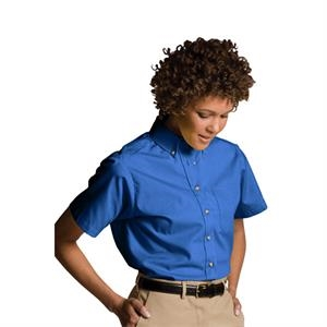 2 X L - Women's Short Sleeve Easy Care Poplin Shirt
