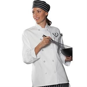 X S- X L - Women's Casual 10 Button Chef Coat