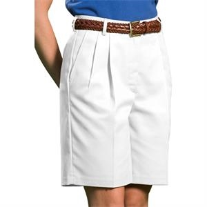 "18w-20w - Women's Business Casual Pleated Shorts With 9""/ 9 1/2"" Inseam"