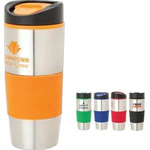 16 Oz. Double Wall Stainless Steel And Polypropylene Tumbler