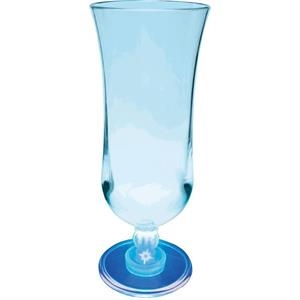 Light Up Glass - Hurricane - 15 oz - Clear with Blue LED