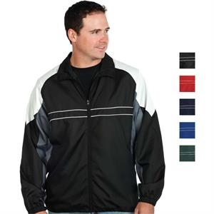 Black - 5 X L - Men's Performance Wind And Water Resistant Polyester Jacket