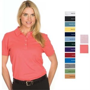 Red - 2 X L - Ladies' 6.8 Oz/ 230gsm 100% Cotton Pique Knit Superior Polo