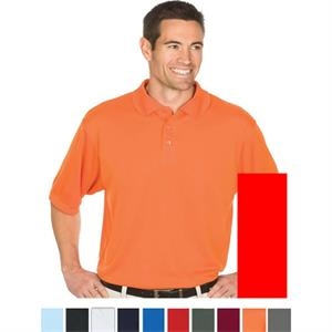 Team - Orange - S -  X L - 4.3 Oz/145gsm 100% Polyester Knit Polo