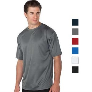 Gray - S -  X L - 4.3 Oz/ 145gsm 100% Polyester Performance Tee
