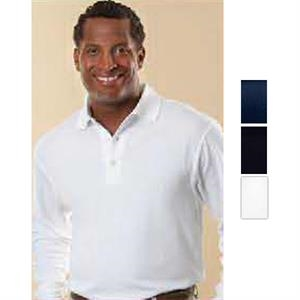 Player Series - Navy - 5.5 Oz, 60% Cotton/40% Polyester Mesh Polo Shirt. Opportunity Buy