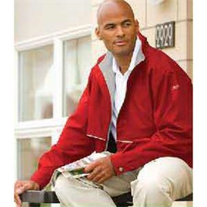 Reebok (r) Corporate - Red-lt. Gray - Jacket With Water Resistant Polyester Shell. Opportunity Buy