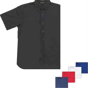 Braddock - Red - Ladies' Cotton/polyester Short Sleeve, Easy Care Twill Shirt. Opportunity Buy