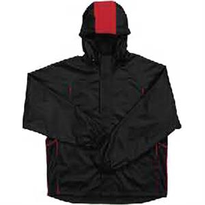 Harbour - Black-red - Wind And Water Resistant 100% Polyester Jacket. Opportunity Buy