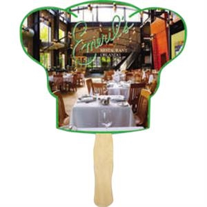 Chef Hat Shape Hand Fan With Wood Handle ( Wood Stick)
