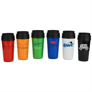 16 Oz. Double Wall Plastic Travel Tumbler With