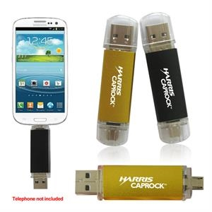 1gb - 3 In 1 Flash Memory Drive For Smart Phones