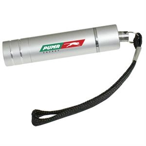 Mini Aluminum Flashlight Wit Split Keyring And Lanyard