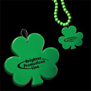 "2 1/2"" Clip On Shamrock Medallion Badge"