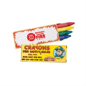 Four Pack Of Fire Safety Crayons