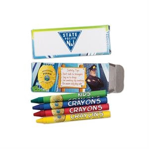 Four Pack Of Police Station Crayons