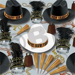 Western Nights New Year's Eve Party Kit for 50