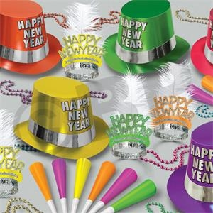 Multi Color Neon New Year's Party Kit  for 50